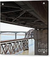 The Three Benicia-martinez Bridges In California - 5d18844 Acrylic Print