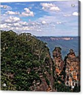The Three Sisters - The Blue Mountains Acrylic Print