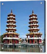 The Tiger And Dragon Pagodas Acrylic Print