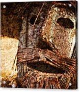 The Tin Man Acrylic Print by Kathy Clark