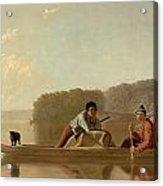 The Trapper's Return Acrylic Print by George Caleb Bingham