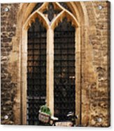 The Vaults Garden Cafe Bicycle In Oxford England Acrylic Print