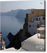 The View At Fira Acrylic Print
