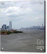 The View From The Statue Of Liberty Acrylic Print