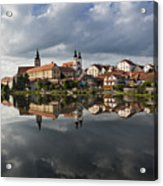 The Village From The Lake Acrylic Print by Maremagnum