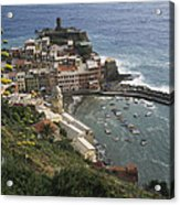 The Village Of Vernazaa On Italys Acrylic Print