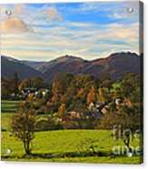 The Village Of Watermillock In Cumbria Uk Acrylic Print