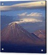 The Volcano Llicancabur. Republic Of Bolivia. Acrylic Print