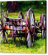 The Wagon At El Prado Acrylic Print