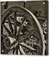 The Wagon Wheel Acrylic Print