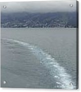The Wake Of A Cruise Ship In Lake Lucerne Acrylic Print
