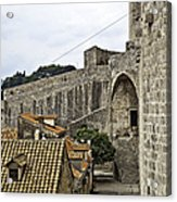 The Wall In Dubrovnik Acrylic Print