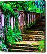 The Wall Of Gravestones Acrylic Print