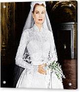 The Wedding In Monaco, Grace Kelly, 1956 Acrylic Print by Everett