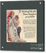 The Wedding Veil Of The Princess Rospigliosi's Great Grandmother Acrylic Print
