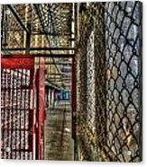 The West Virginia State Penitentiary Cell Hallway Acrylic Print
