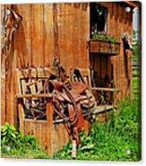 The Western Saddle Acrylic Print