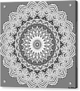 The White Mandala No. 2 Acrylic Print