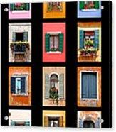The Windows Of Venice Acrylic Print