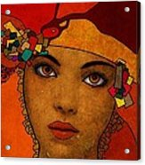 The Woman Ruby Acrylic Print