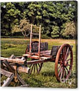 The Wooden Cart Acrylic Print