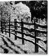 The Wooden Fence Acrylic Print