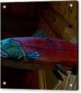 The Wooden Rainbow Trout Acrylic Print