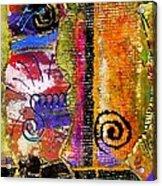 The Woven Stitch Cross Dance Acrylic Print