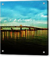The York River Acrylic Print by Bill Cannon