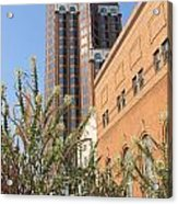 Theater District And City Flowers Acrylic Print