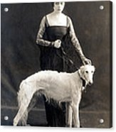 Theda Bara With Her Russian Wolfhound Acrylic Print