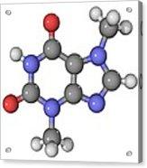 Theobromine Molecule Acrylic Print