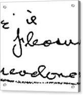 Theodore Dreiser (1871-1945) Acrylic Print