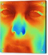 Thermogram Of A Boys Face Acrylic Print
