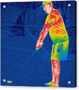 Thermogram Of A Golfer Acrylic Print