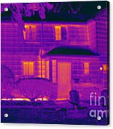 Thermogram Of A Home In Winter Acrylic Print