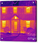 Thermogram Of A House In Winter Acrylic Print
