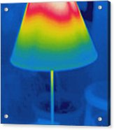 Thermogram Of A Lamp Acrylic Print