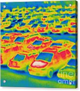 Thermogram Of A Parking Lot Acrylic Print