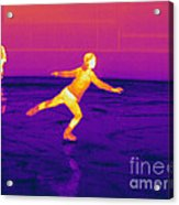 Thermogram Of A Skater Acrylic Print