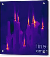 Thermogram Of Candles Acrylic Print