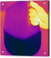 Thermogram Of Milk Jug Acrylic Print