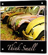 Think Small Acrylic Print