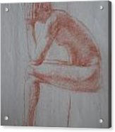 Thinking Acrylic Print
