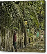 This Is The Philippines No.57 - Guess Im Gonna Get Wet Feet Acrylic Print by Paul W Sharpe Aka Wizard of Wonders