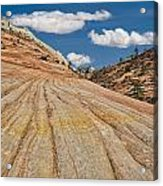 This Is Utah No. 18 - Zions Key Hole Canyon Acrylic Print