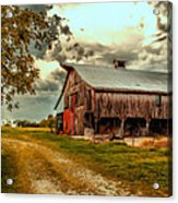 This Old Barn Acrylic Print by Bill Tiepelman