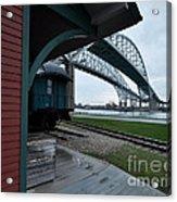 Thomas Edison Depot And Blue Water Bridges 2012 Acrylic Print
