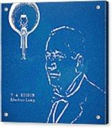 Thomas Edison Lightbulb Patent Artwork Acrylic Print