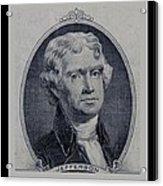 Thomas Jefferson 2 Dollar Bill Portrait Acrylic Print